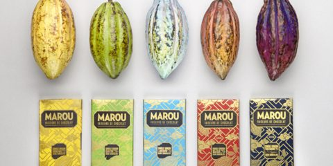Packs - Chocolats - Wallpaper chocolate - Marou - Rice Creative - Vietnam