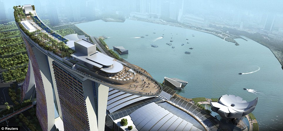 Rooftops & Skybars : Skypark - Marina Bay Sands - Singapour