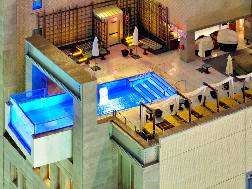 Rooftops & Skybars : Pool Bar - Hôtel The Joule - Dallas - USA