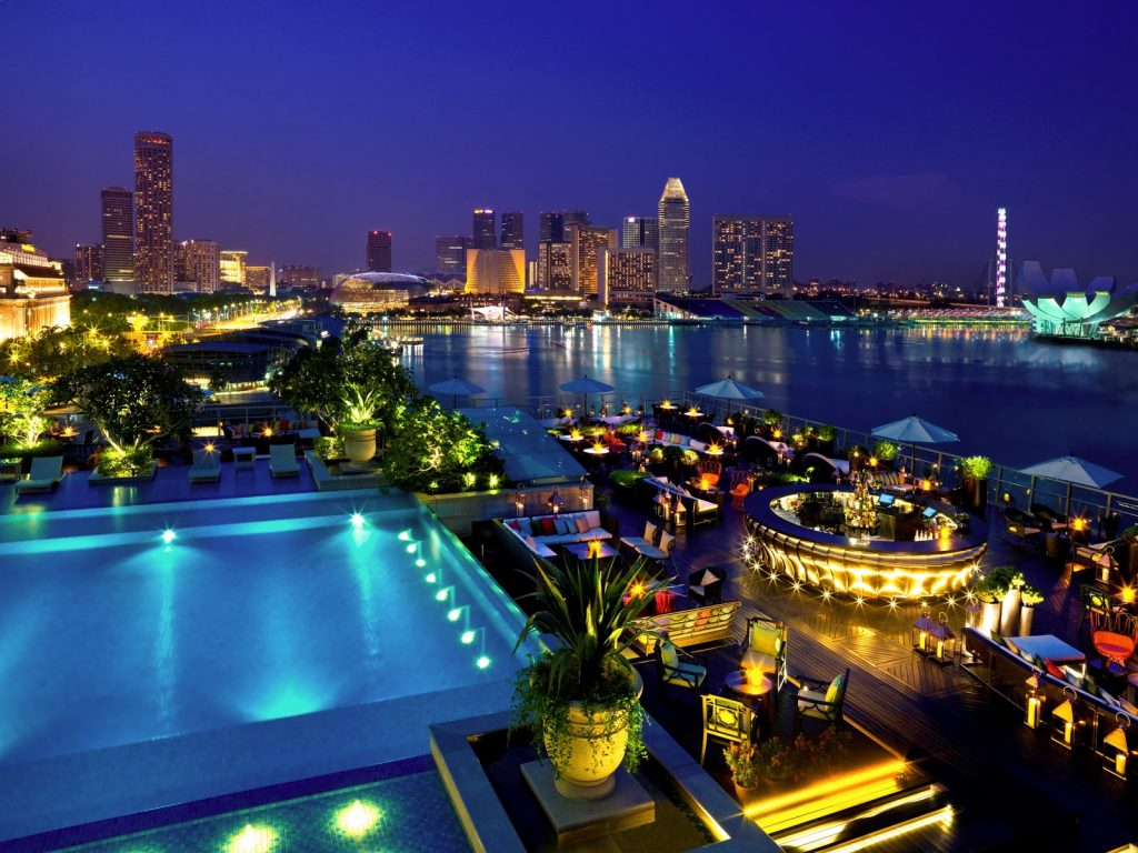 Rooftops & Skybars : Lantern - Fullerton Bay Hotel - Singapour
