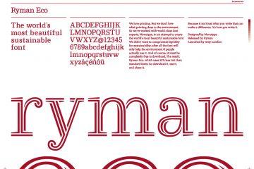 Typographie - Police - Ryman Eco