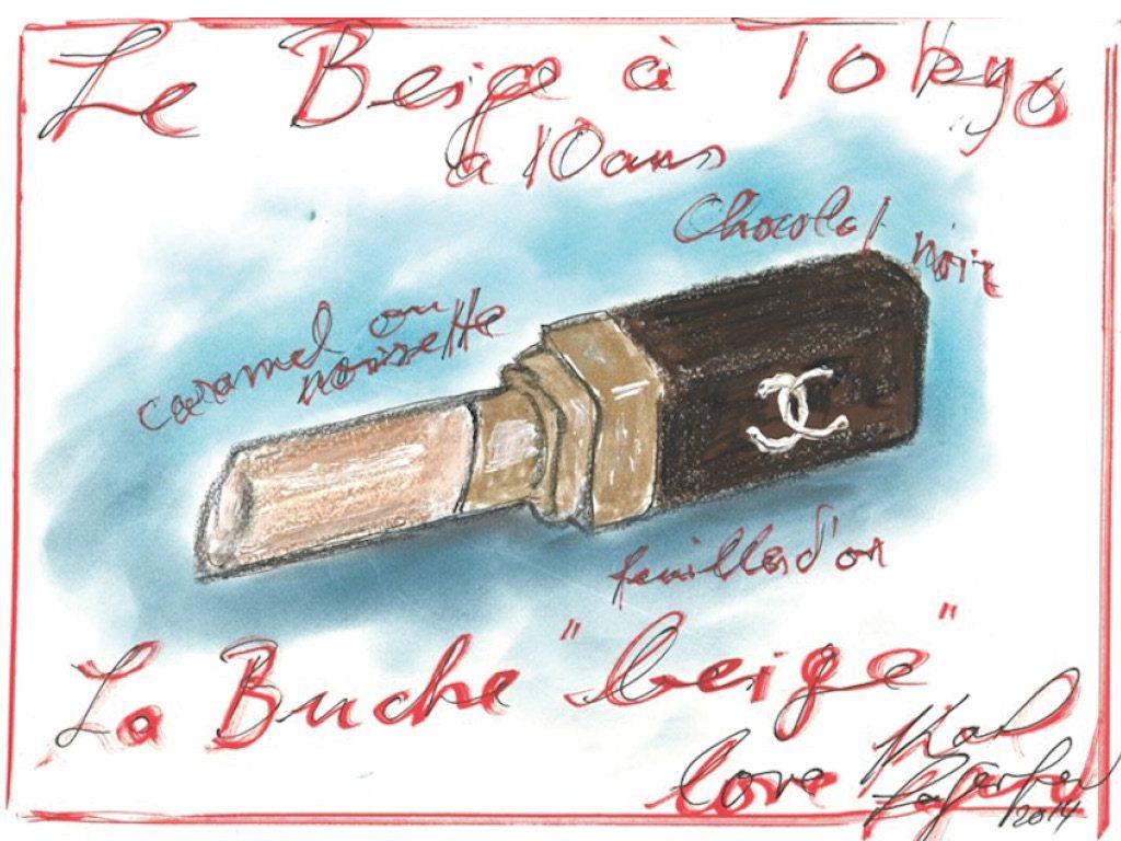 Dessin bûche de Noël - Karl Lagerfeld - Chanel - Ducasse