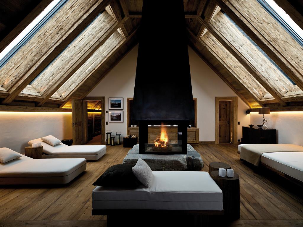 Hôtel Alpina Gstaad - salon
