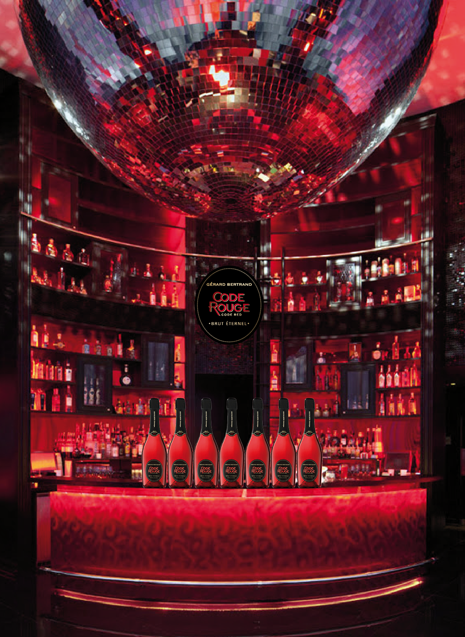 Bar bouteilles - Code Rouge