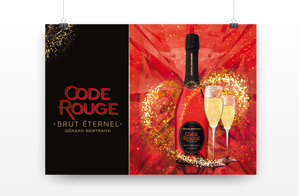 Affiche bouteilles - Code Rouge