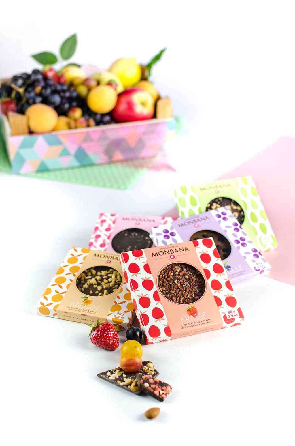 Packagings tablettes fruitées – Monbana