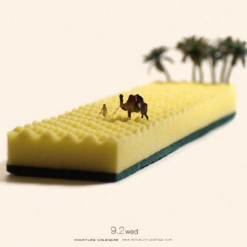 Le «Miniature Calendar» du photographe Tatsuya Tanaka