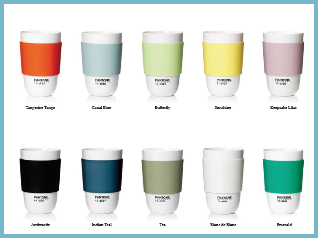 Tasses design Pantone