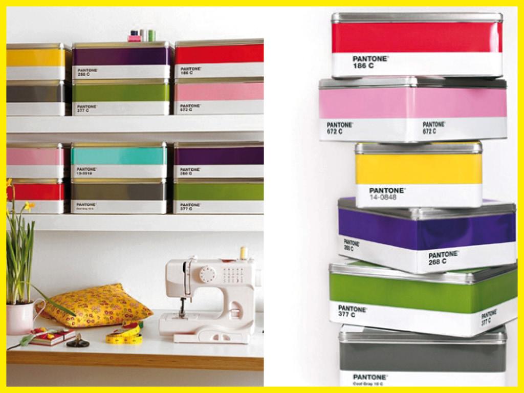 Boîtes colorées Pantone