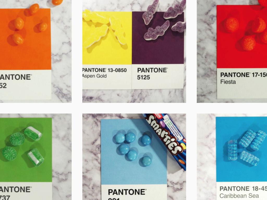 Compte Instagram bonbons Pantone