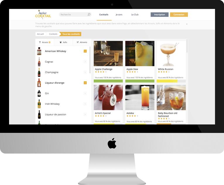 interface web - Atelier Cognac