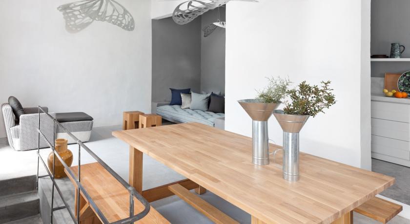 Intérieur résidence salon/cuisine Serifos Grèce