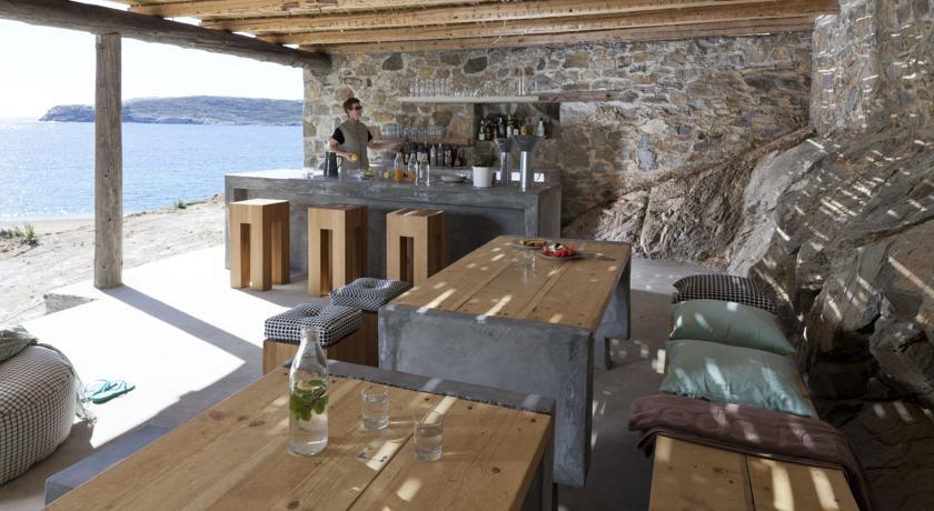 Bar plage extérieur Serifos Grèce