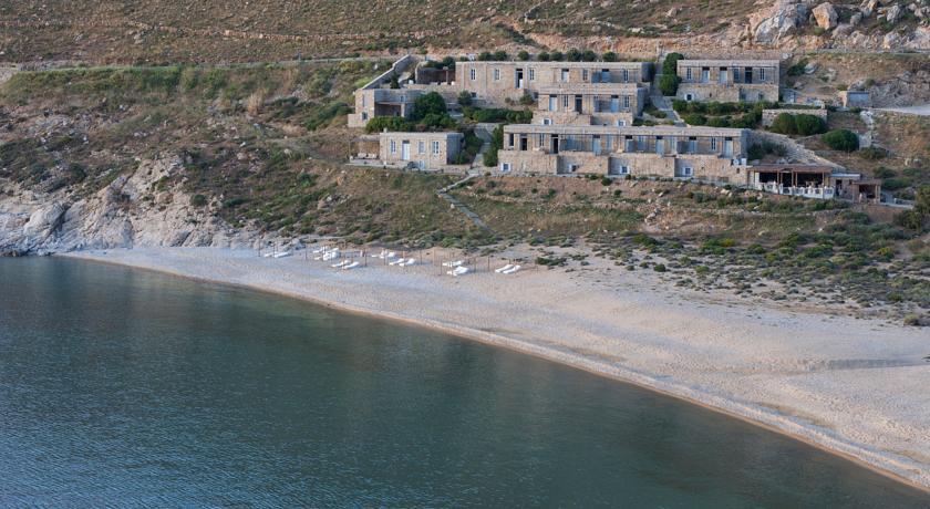 Complexe vue extérieur Serifos Grèce