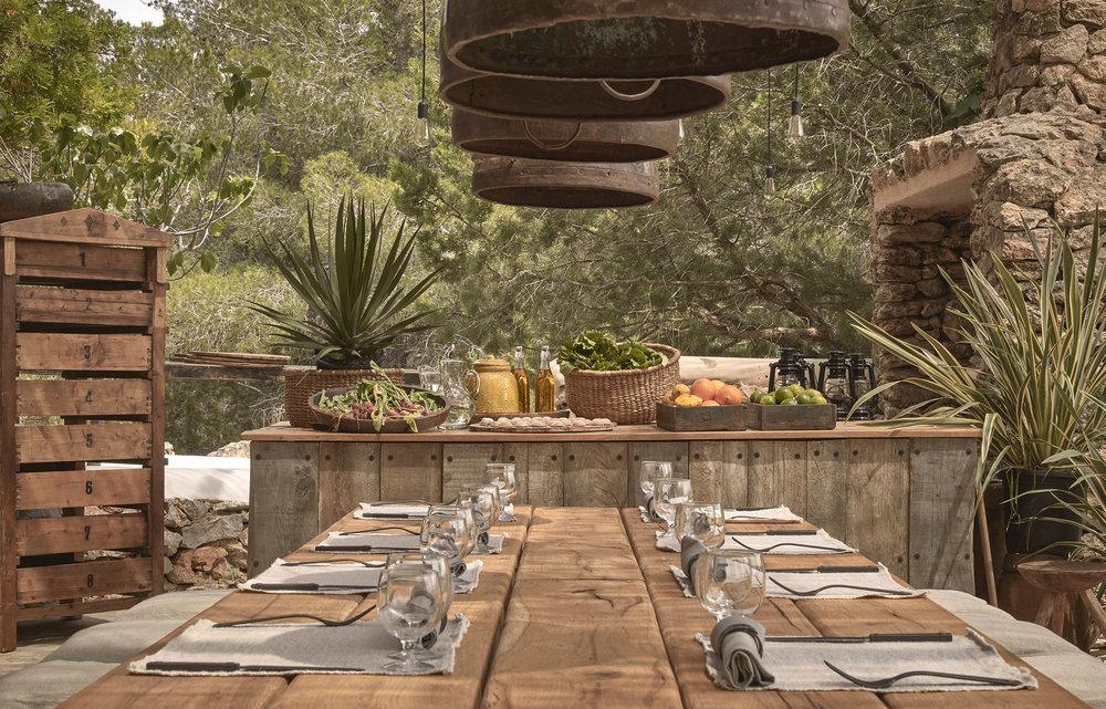 Terrasse table extérieur Granja Ibiza