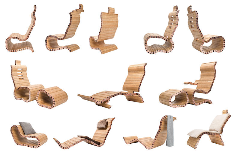 Chaise Spyndi assemblages