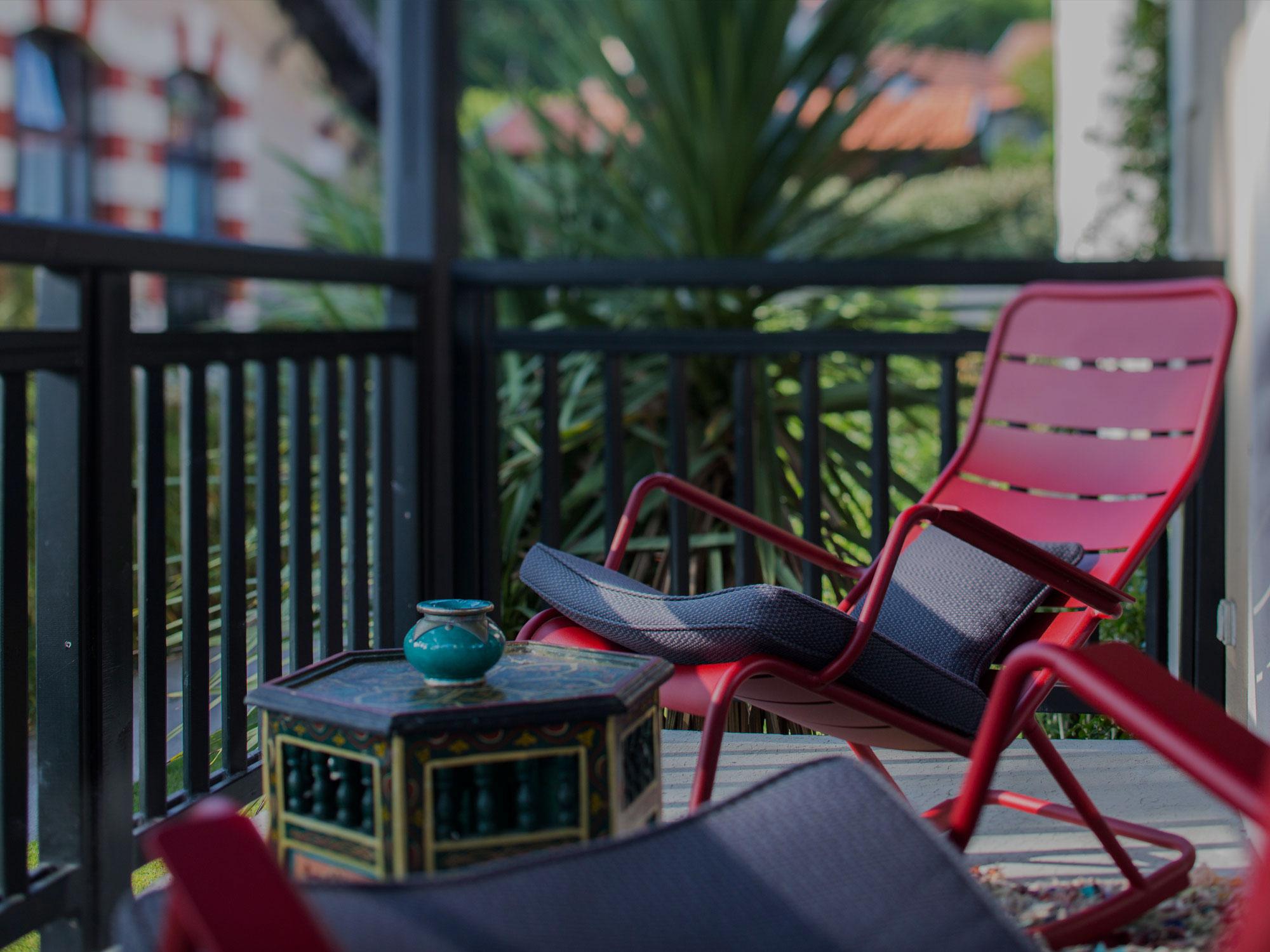 Terrasse sièges Hôtel de ville d'hiver Arcachon