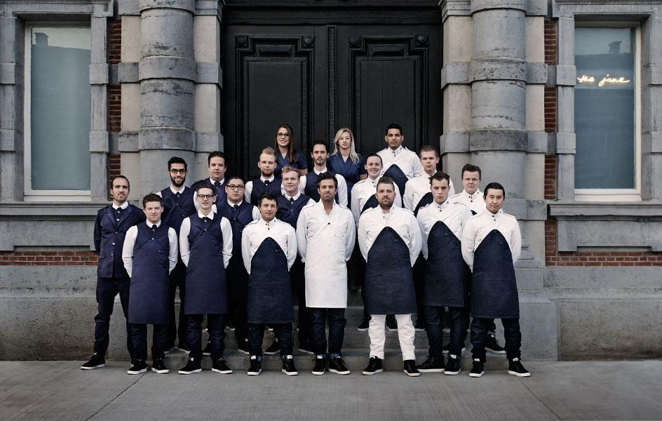 Photographie équipe du restaurant de Sergio Herman