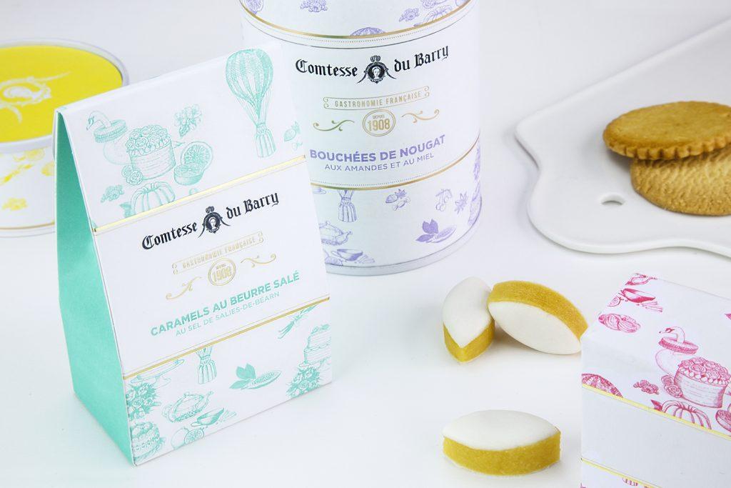 Packagings Gamme sucrée – Comtesse du Barry