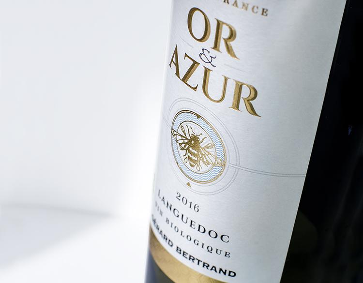 Etiquette bouteille de vin Or & Azur – Gérard Bertrand