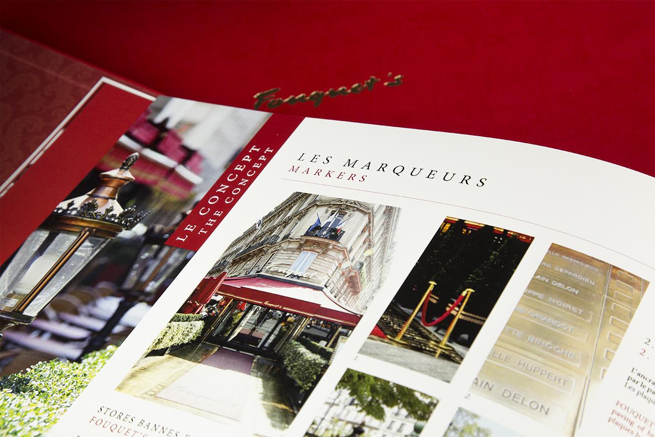 Page Les Marqueurs Le Concept – livre de marque Fouquet's