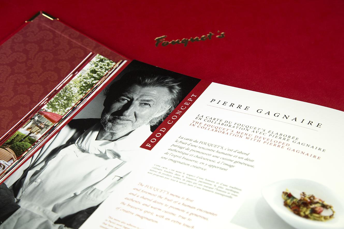 Page Pierre Gagnaire Food Concept – livre de marque Fouquet's