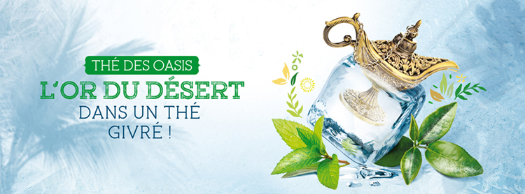 Bannière Facebook pour la référence Thé des Oasis