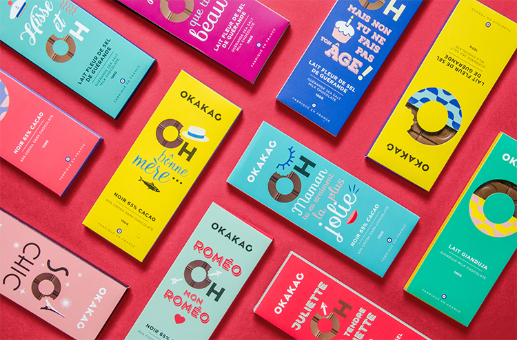 Pèle-mêle tablettes Okakao – chocolats Monbana