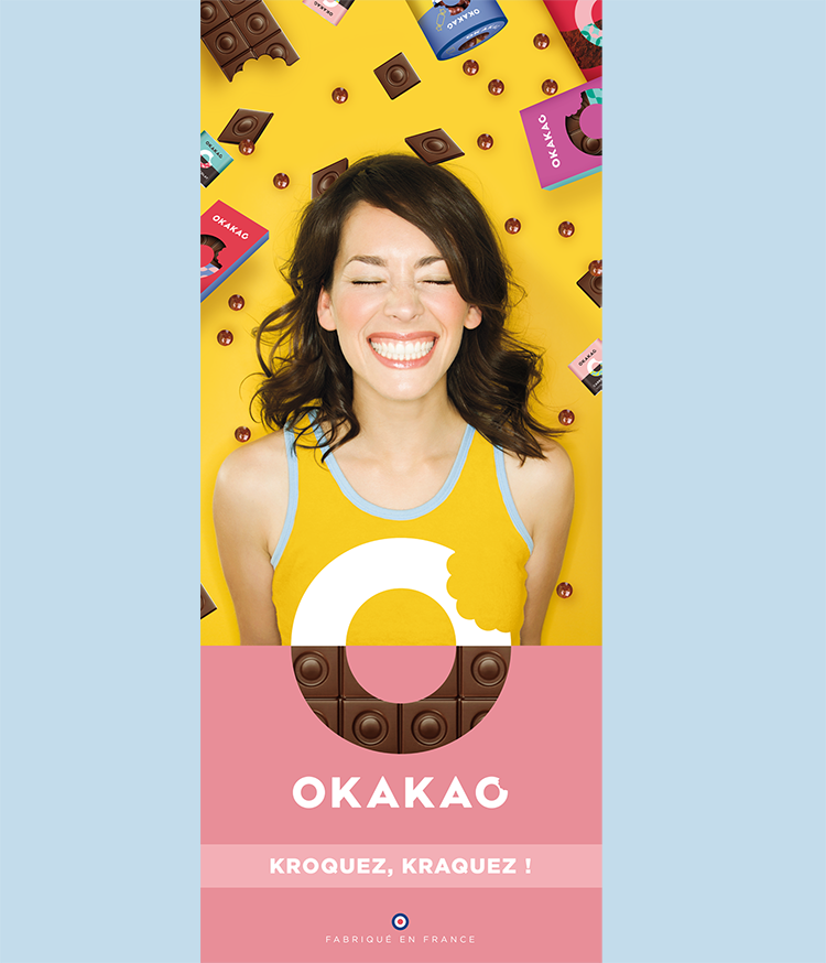 Affiche communication tablettes Okakao