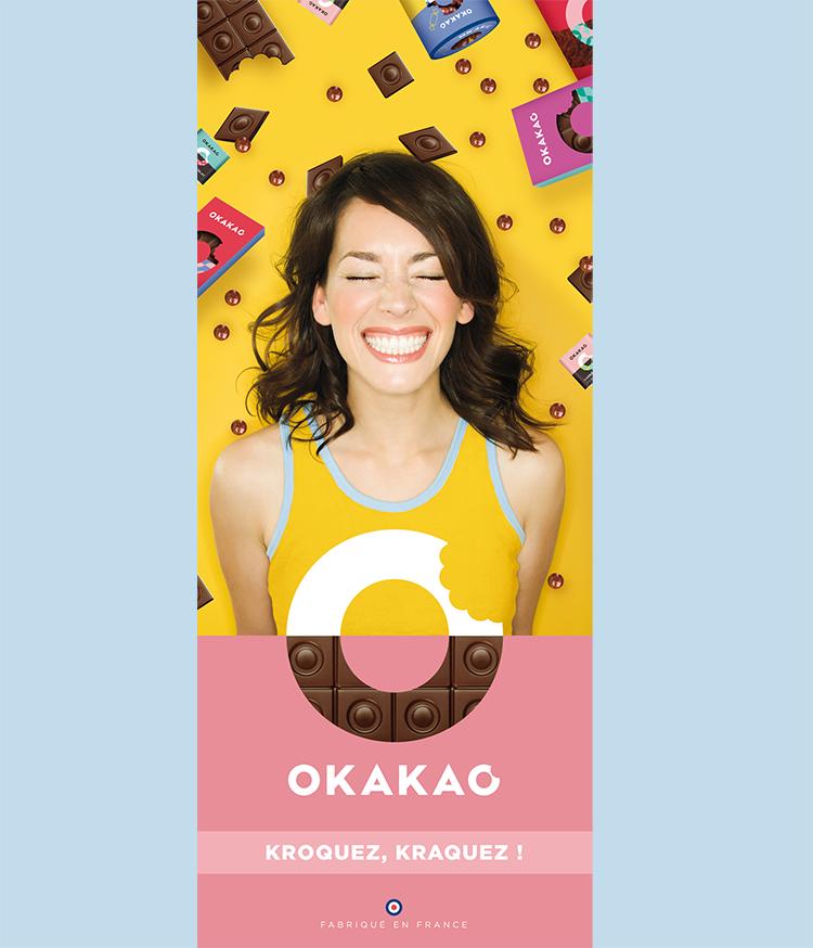 Affiche communication tablettes Okakao