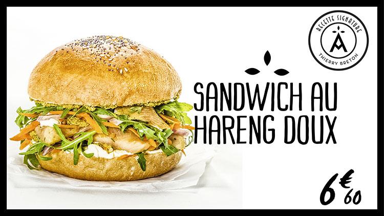 Recette signature Thierry Breton - Sandwich au hareng doux