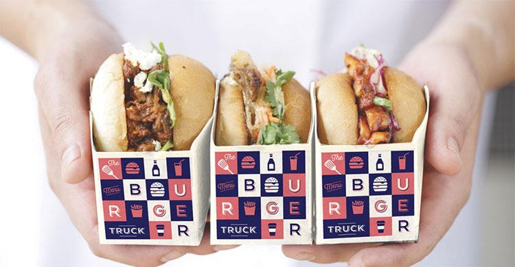 The Burger Truck - Hamburger boxes