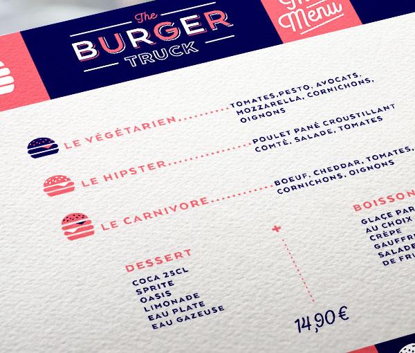 The Burger Truck - Menu