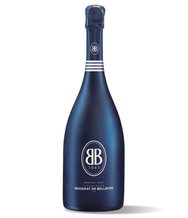 bouteille bleue marinière