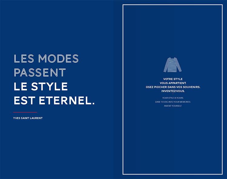 Les modes passent le style est eternel, Yves Saint Laurent
