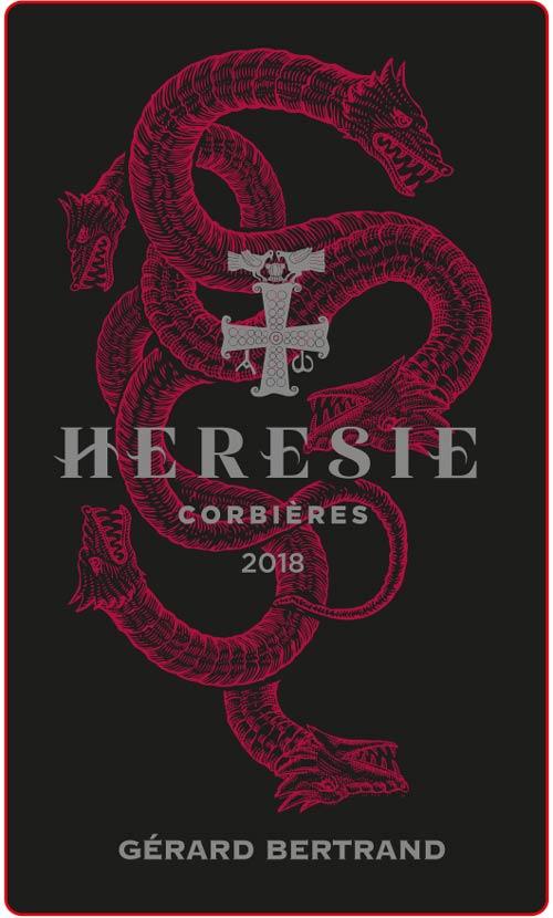 Corbières Hérésie : étiquette